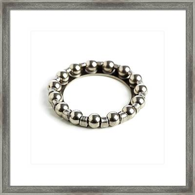 Ring Of Ball Bearings Framed Print by Science Photo Library