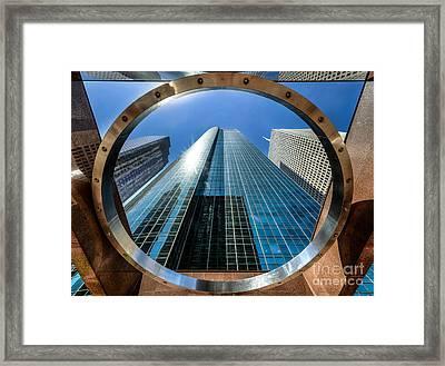 Ring Of Trust - Wells Fargo Plaza Framed Print by Dee Zunker