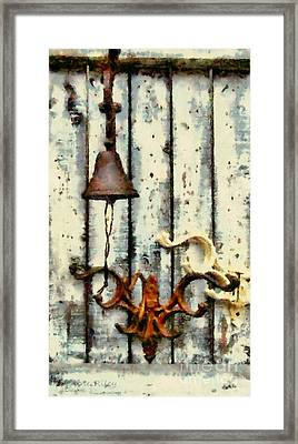 Ring The Bell Framed Print by Janine Riley