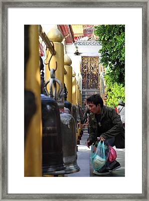 Ringing Of The Bells - Wat Phrathat Doi Suthep - Chiang Mai Thailand - 01131 Framed Print by DC Photographer