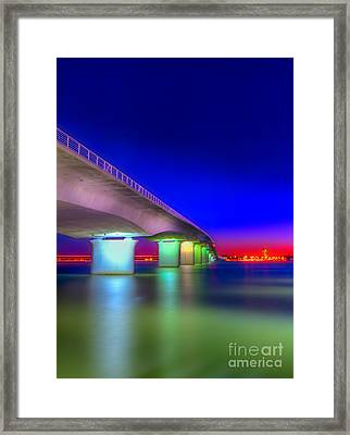 Ringling Bridge Framed Print by Marvin Spates