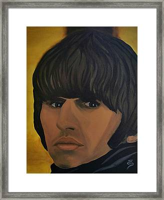 Ringo Star  Beatles For Sale Framed Print by Edward Pebworth