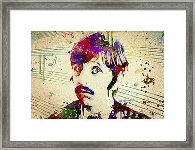 Ringo Starr Framed Print by Aged Pixel