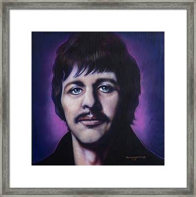 Ringo Starr Framed Print by Tim  Scoggins