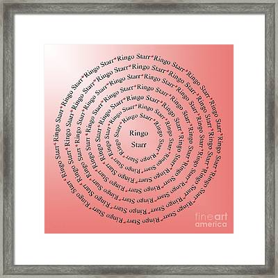 Ringo Starr Typography Framed Print by Andee Design