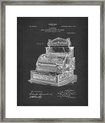 Ringold Cash Register 1904 Patent Art Black Framed Print by Prior Art Design