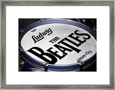 Ringo's Drum Framed Print by Ron Regalado