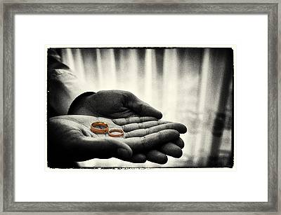 Rings Of Love Framed Print by Richard Allen