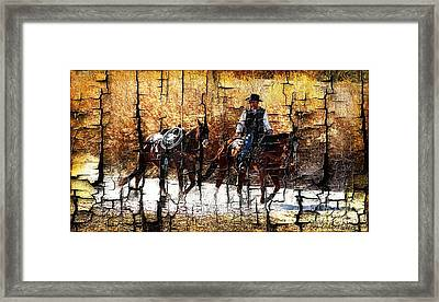 Rio Cowboy With Horses  Framed Print by Barbara Chichester