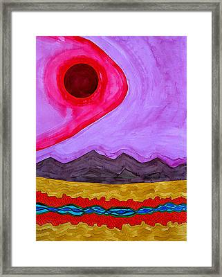 Rio Grande Gorge Original Painting Framed Print by Sol Luckman