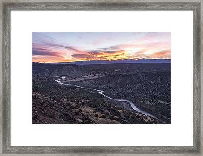 Rio Grande River Sunrise - White Rock New Mexico Framed Print by Brian Harig