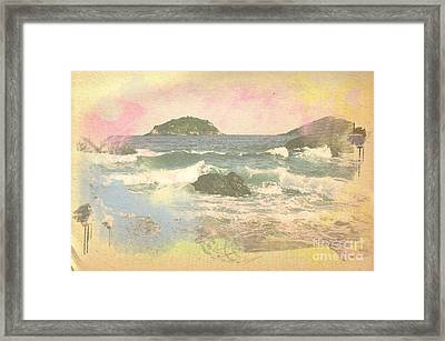 Rio In Aquarelle Framed Print by Will Cardoso