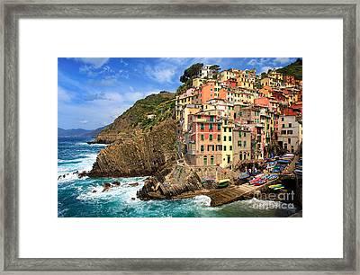 Rio Maggiore Coastline Framed Print by Inge Johnsson