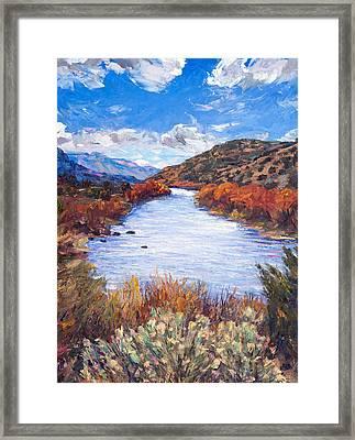 Rio River Bend Framed Print by Steven Boone