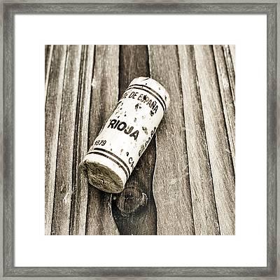 Rioja Wine Cork Framed Print by Frank Tschakert