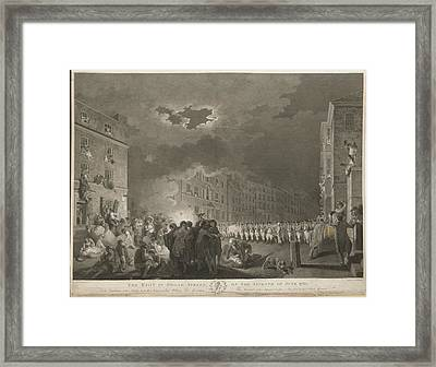 Riot In Broad Street Framed Print by British Library