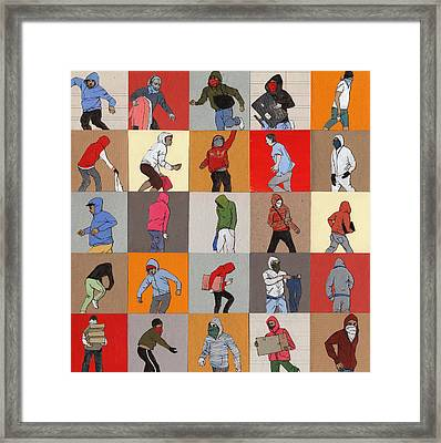 Rioters Framed Print by Eliza Southwood