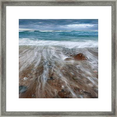 Rip Tide Square Framed Print by Bill Wakeley