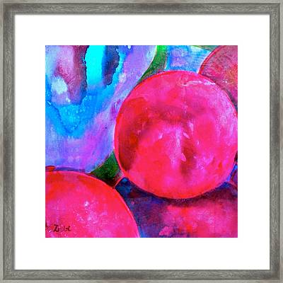 Blue Grapes Framed Print featuring the mixed media Ripe by Debi Starr