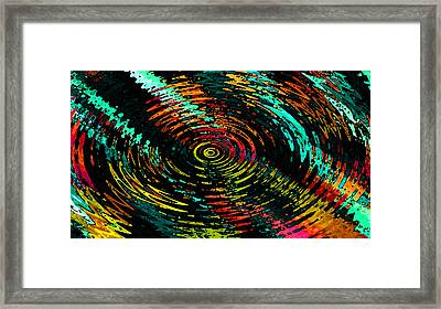 Ripple In Time Framed Print by Josephine Ring