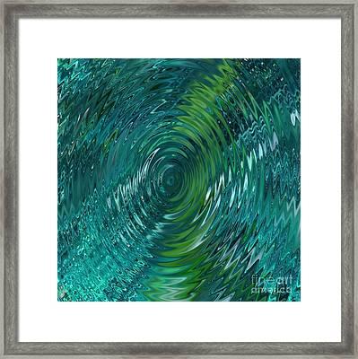 Ripple Sea Glass  Framed Print by Christine Fournier