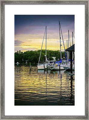 Ripples At Sunset Framed Print by Brian Wallace