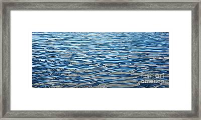 Ripples On A Scottish Loch Framed Print by Tim Gainey