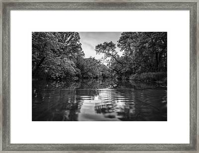 Ripples Through Life Framed Print by CJ Schmit