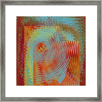 Rippling Colors No 2 Framed Print by Ben and Raisa Gertsberg