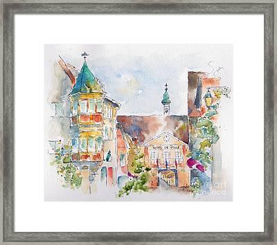 Riquewhir Hotel De Ville Framed Print by Pat Katz