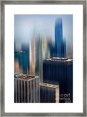 Rising Metropolis Framed Print by Az Jackson