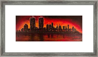 Rising Sun At Nyc Framed Print by Coqle Aragrev