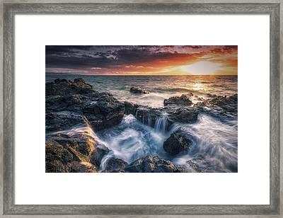 Rising Tide II Framed Print by Hawaii  Fine Art Photography