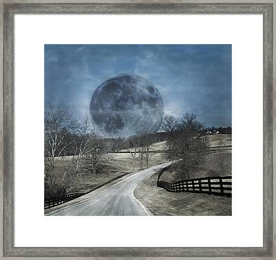 Rising To The Moon Framed Print by Betsy C Knapp