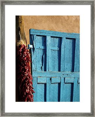 Ristras In Taos Framed Print by Gia Marie Houck