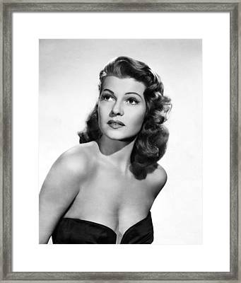 Rita Hayworth Close Up Framed Print by Retro Images Archive