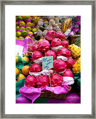 Ritaya Fruit - Mercade Municipal  Framed Print by Julie Niemela