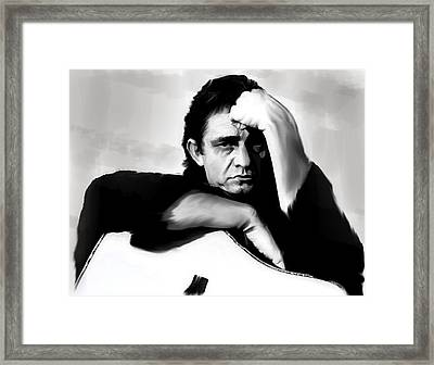 Rite Of Truth  Johnny Cash Framed Print by Iconic Images Art Gallery David Pucciarelli