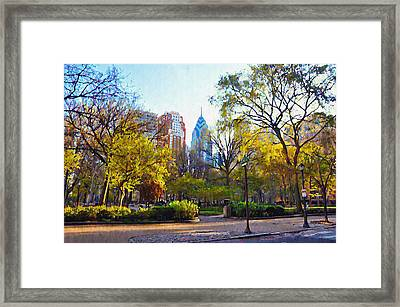 Rittenhouse Square In The Spring Framed Print by Bill Cannon