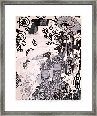Ritual Framed Print by Kryztina Spence