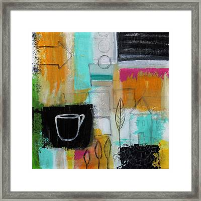 Rituals- Contemporary Abstract Painting Framed Print by Linda Woods