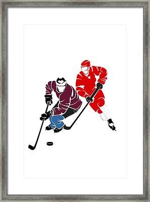 Rivalries Avalanche And Red Wings Framed Print by Joe Hamilton