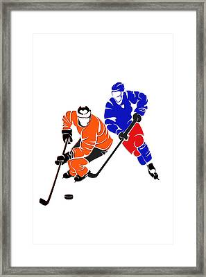 Rivalries Flyers And Rangers Framed Print by Joe Hamilton