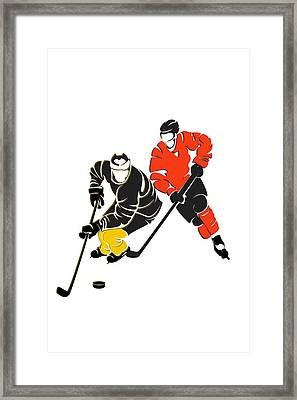 Rivalries Penguins And Flyers Framed Print by Joe Hamilton