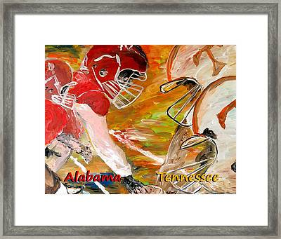 Rivals Face To Face 1 Framed Print by Mark Moore