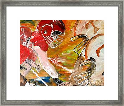 Rivals Face To Face  Framed Print by Mark Moore
