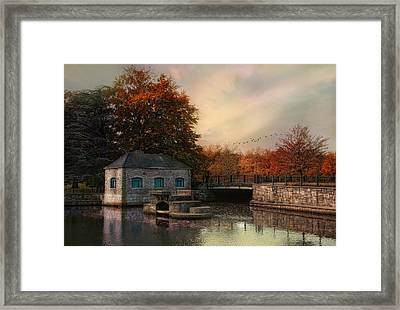 River Antiquity Framed Print by Robin-lee Vieira