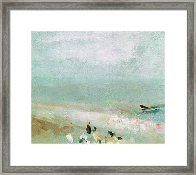 River Bank Framed Print by Joseph Mallord William Turner