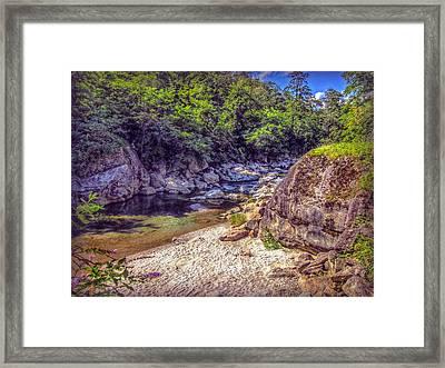River Beach Framed Print by Hanny Heim
