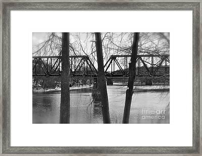 River Bridge Framed Print by Jonathan Brown